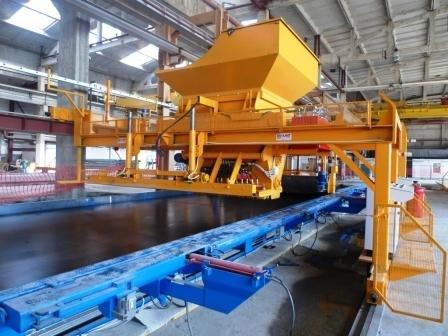 Технологические линии для изготовлении бетонных покрытии (панель)