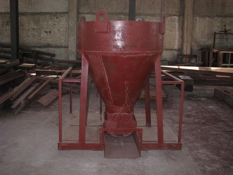Бункер для закладки бетона