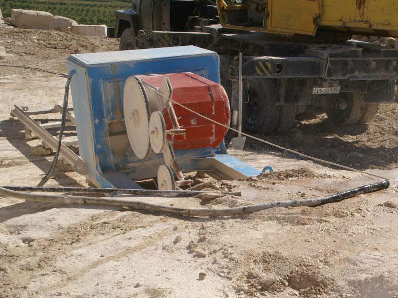 Тросовой станок для резки природных камней (для карьера)